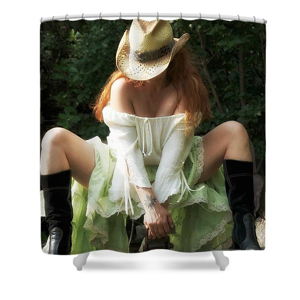 Resting Shower Curtain by Todd and candice Dailey