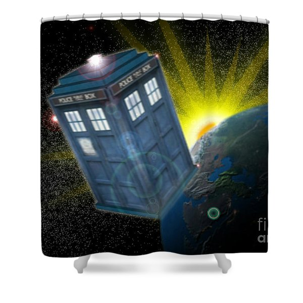Return Of The Time Lord. Shower Curtain by Ian Garrett