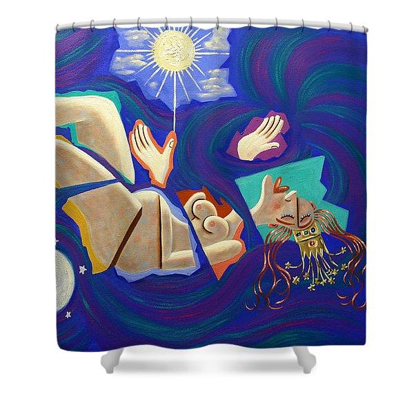 Revelation Chapter 12-1 Shower Curtain by Anthony Falbo