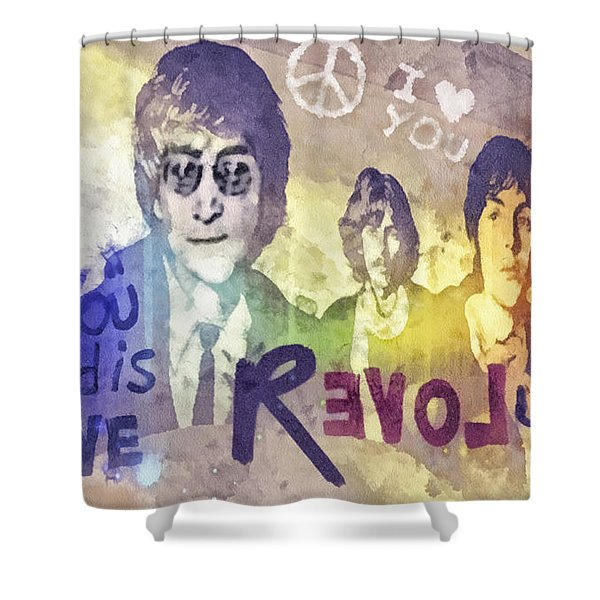 Revolution Shower Curtain by Mo T