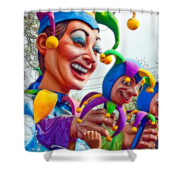 Rex Mardi Gras Parade XI Shower Curtain by Steve Harrington