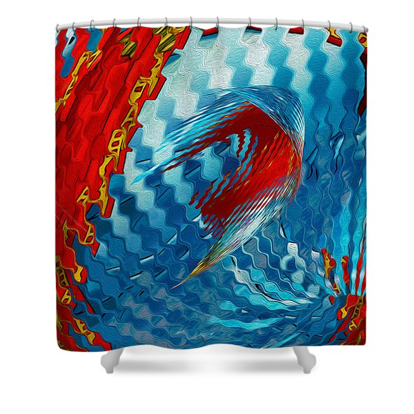 Ribbons Journey Shower Curtain by Jack Zulli