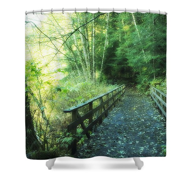 Rice Lake In North Vancouver Shower Curtain by Marlene Ford