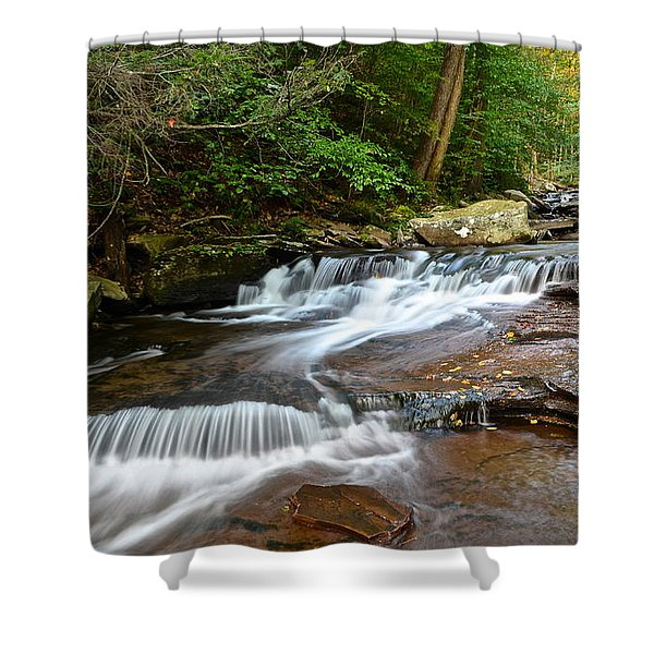 Ricketts Glen Shower Curtain by Frozen in Time Fine Art Photography