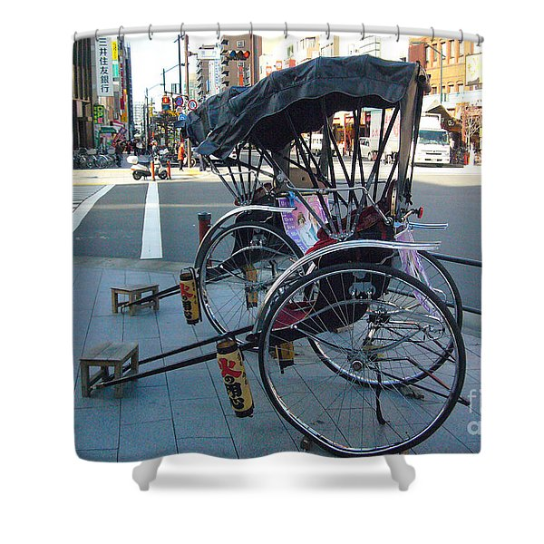 Rickshaw in Tokyo Shower Curtain by To-Tam Gerwe