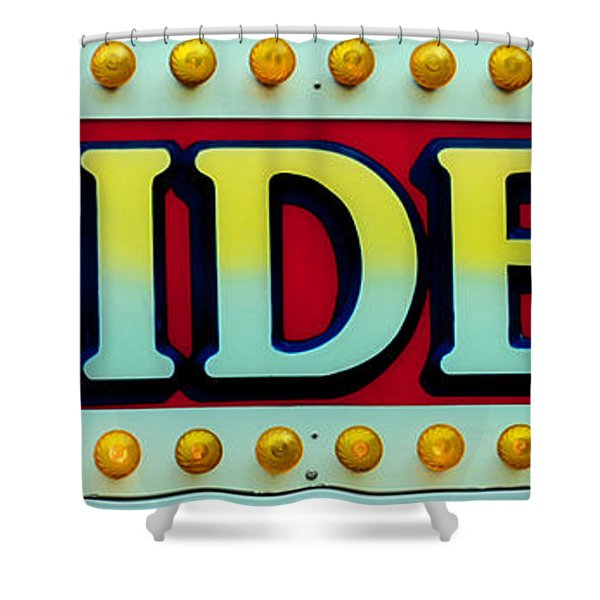 RIDES Shower Curtain by Skip Willits