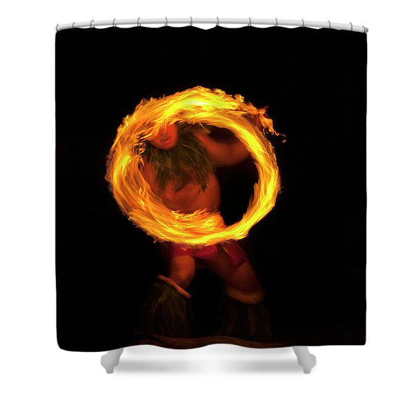 Ring of Fire Shower Curtain by Mike  Dawson