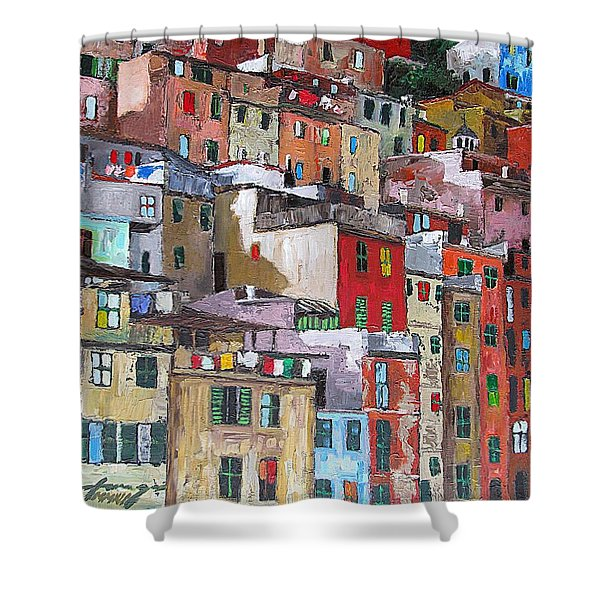 Riomaggiore - Cinque Terre - Italy Shower Curtain by Dan Haraga