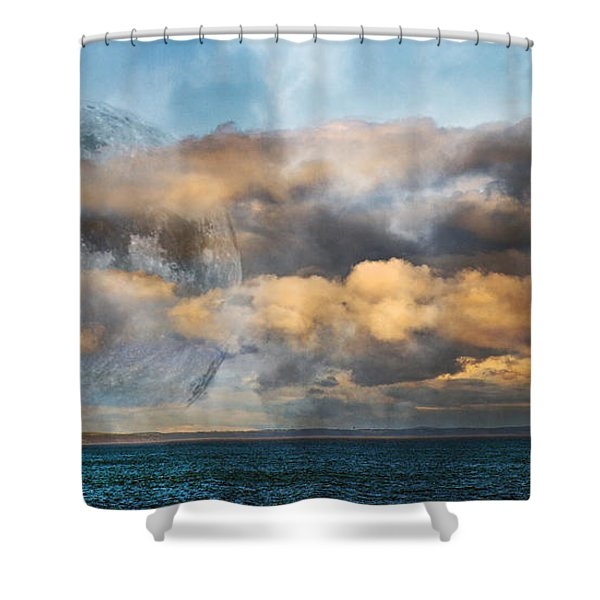 Rising Mystic Shower Curtain by Betsy C  Knapp