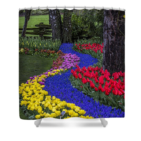 River Of Blue Shower Curtain by Sonya Lang