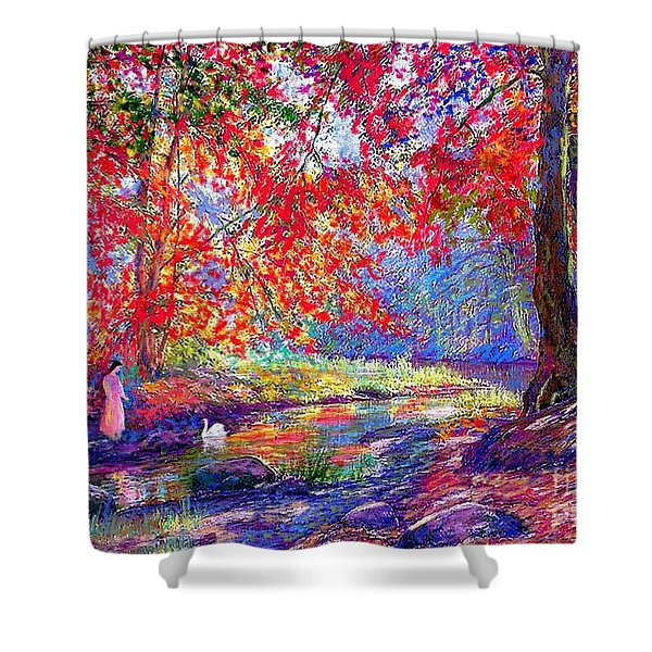 River of Life Shower Curtain by Jane Small