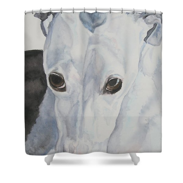 Riveted Shower Curtain by Susan Herber