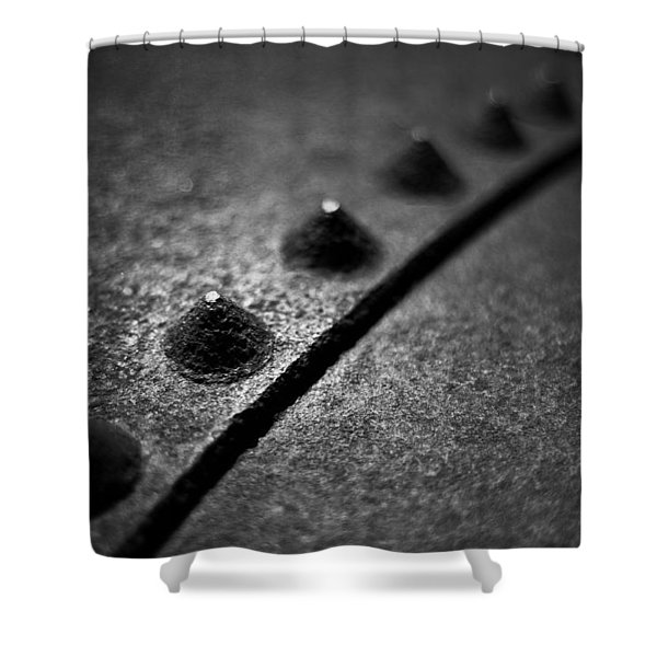 Rivets 1 Shower Curtain by Scott Norris
