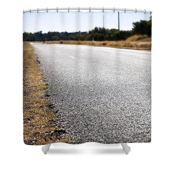 Road Edge Shower Curtain by Tim Hester