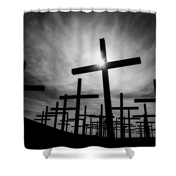 Roadside Memorial Shower Curtain by Dave Bowman