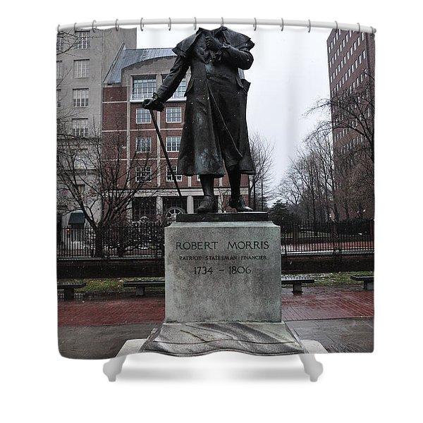 Robert Morris Financier of the American Revolution Shower Curtain by Bill Cannon