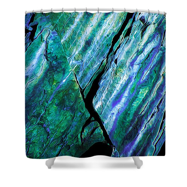 Rock Art 16 in Teal n Violet Shower Curtain by Bill Caldwell -        ABeautifulSky Photography