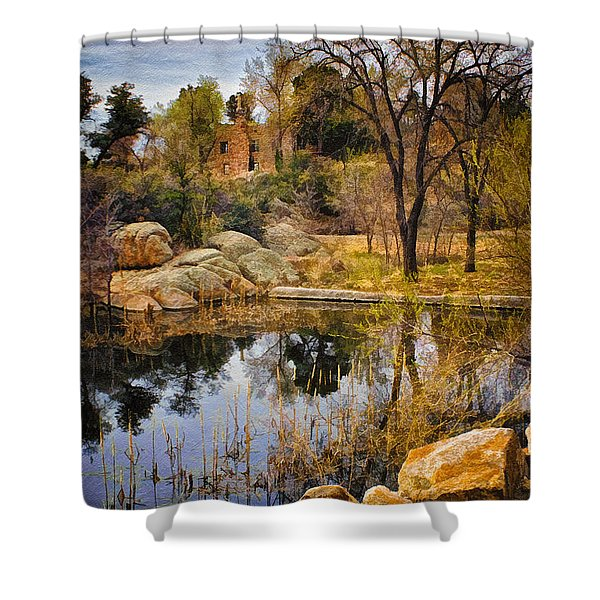 Rock House at Granite Dells Shower Curtain by Priscilla Burgers