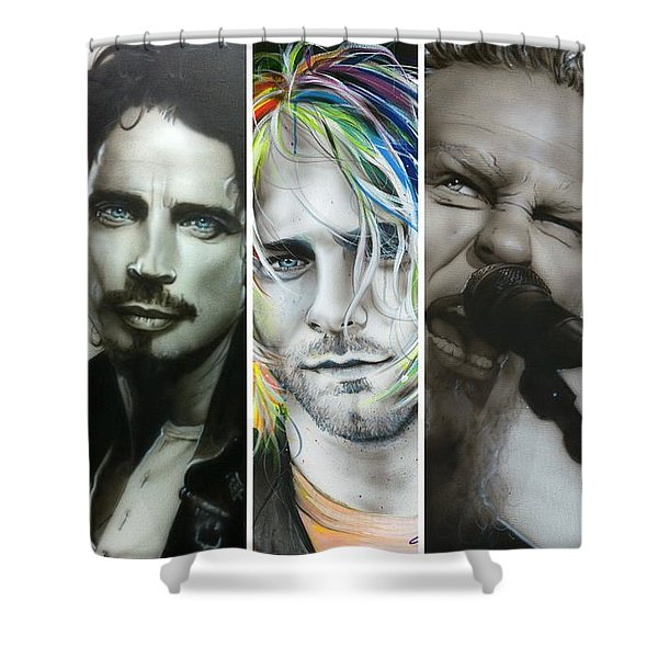 'Rock Montage I' Shower Curtain by Christian Chapman Art