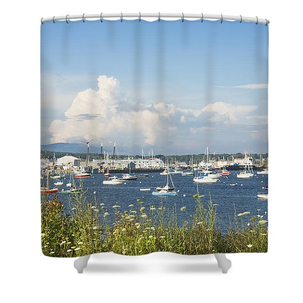 Rockland Harbor on the Coast of Maine Shower Curtain by Keith Webber Jr