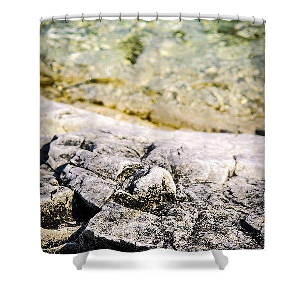 Rocks at Georgian Bay Shower Curtain by Elena Elisseeva