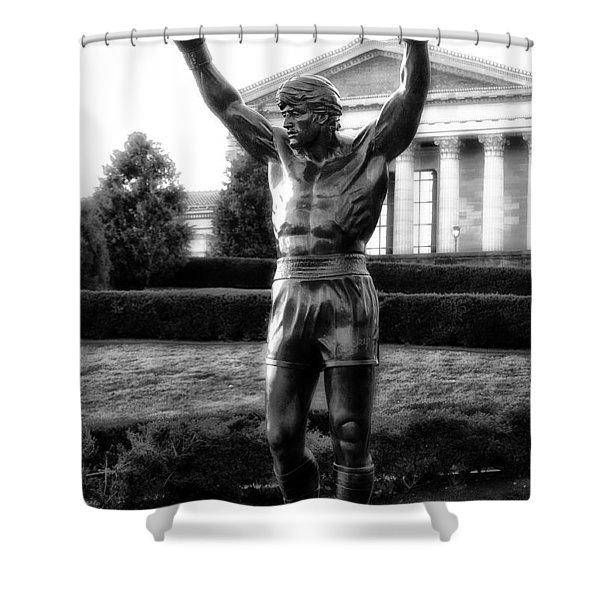 Rocky Balboa Shower Curtain by Bill Cannon