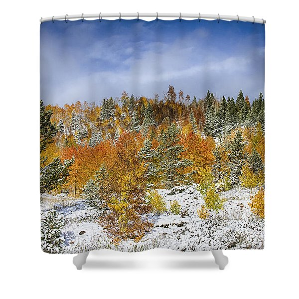 Rocky Mountain Autumn Storm Shower Curtain by James BO  Insogna