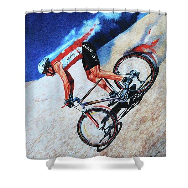 Rocky Mountain High Shower Curtain by Hanne Lore Koehler