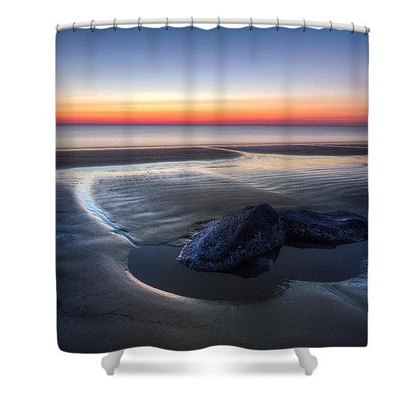 Rocky Pools Shower Curtain by Debra and Dave Vanderlaan
