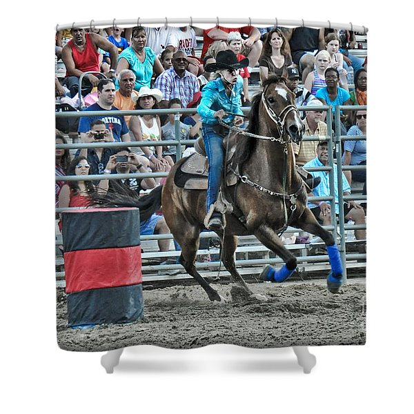Rodeo Cowgirl Shower Curtain by Gary Keesler