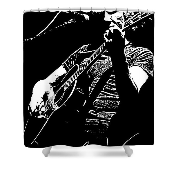 Roger Waters No.01 Shower Curtain by Caio Caldas