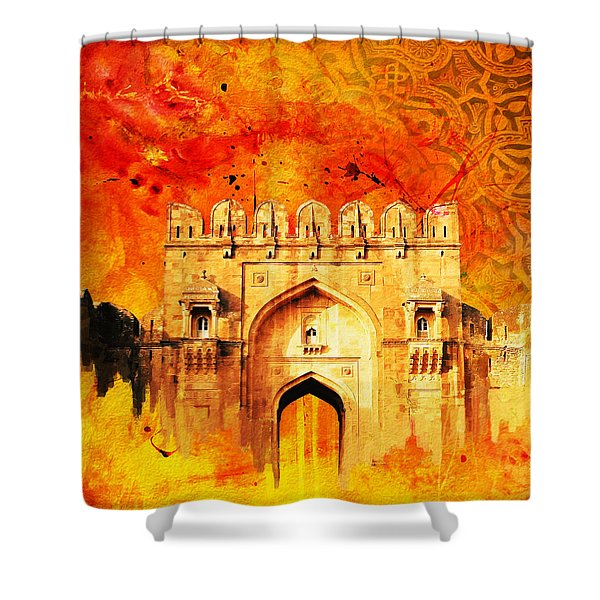 Rohtas Fort 01 Shower Curtain by Catf