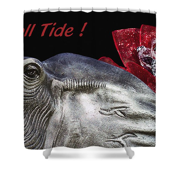 Roll Tide - 14 Time National Champions Shower Curtain by Kathy Clark