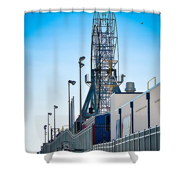 Rollercoaster Shower Curtain by Trish Tritz