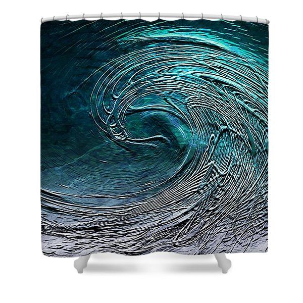 Rolling In The Deep Shower Curtain by Barbara Chichester