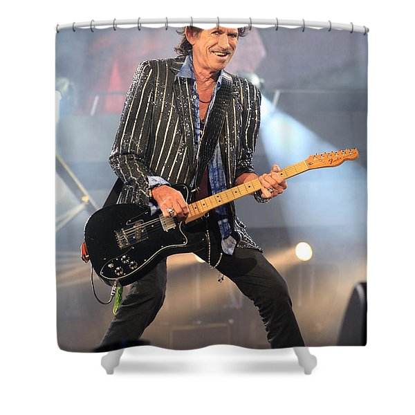 Rolling Stones Concert 4 Shower Curtain by Rafa Rivas