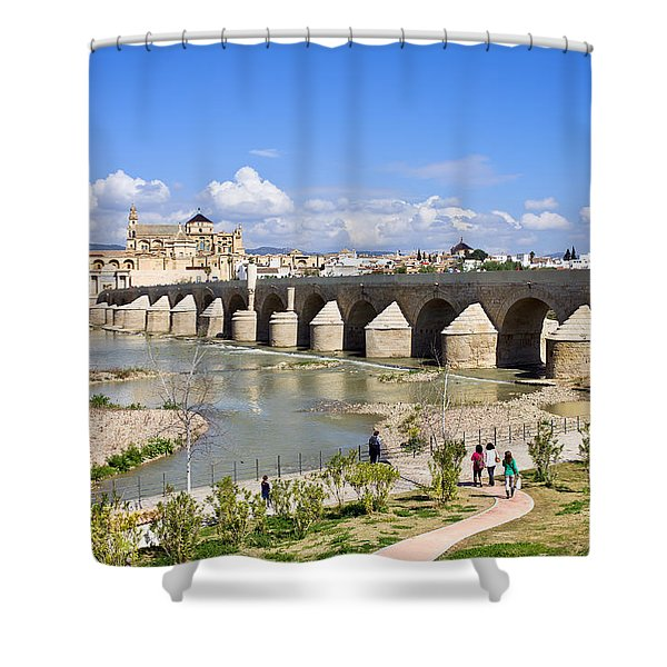 Roman Bridge in Cordoba Shower Curtain by Artur Bogacki