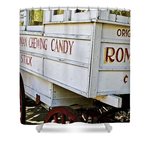 Roman Chewing Candy Shower Curtain by Scott Pellegrin