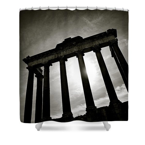 Roman Forum Shower Curtain by Dave Bowman