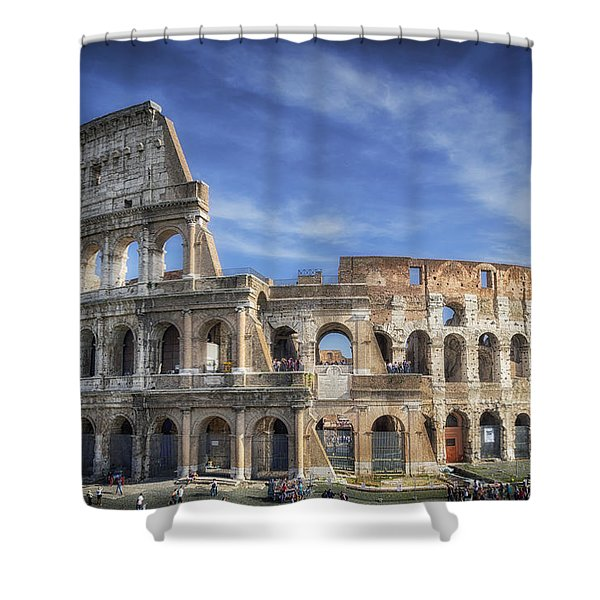 Roman Icon Shower Curtain by Joan Carroll