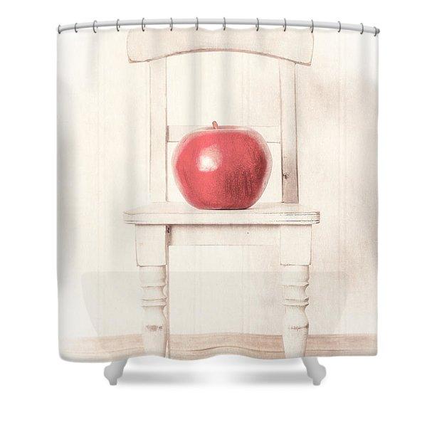 Romantic Apple Still Life Shower Curtain by Edward Fielding