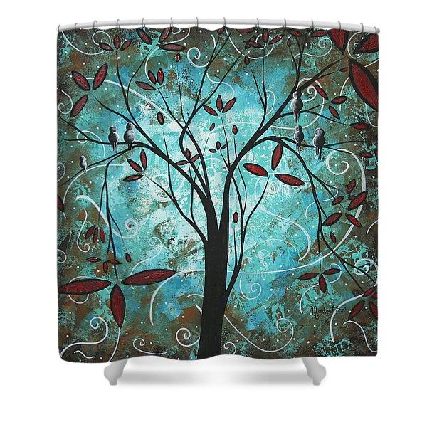Romantic Evening By Madart Shower Curtain by Megan Duncanson