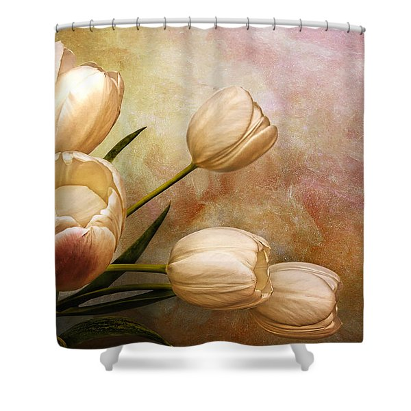 Romantic Spring Shower Curtain by Claudia Moeckel