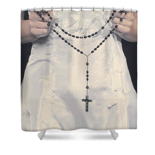 rosary Shower Curtain by Joana Kruse