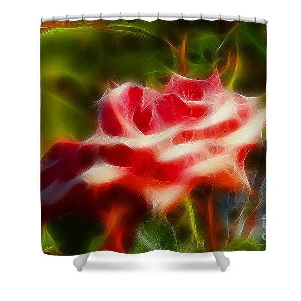 Rose 6168-fractal Shower Curtain by Gary Gingrich Galleries
