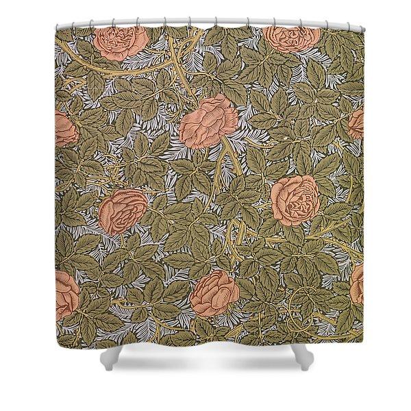 Rose 93 Wallpaper Design Shower Curtain by William Morris