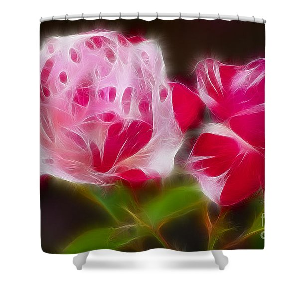 Roses 6221-fractal Shower Curtain by Gary Gingrich Galleries