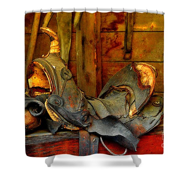 Rough Ride Shower Curtain by Lauren Hunter