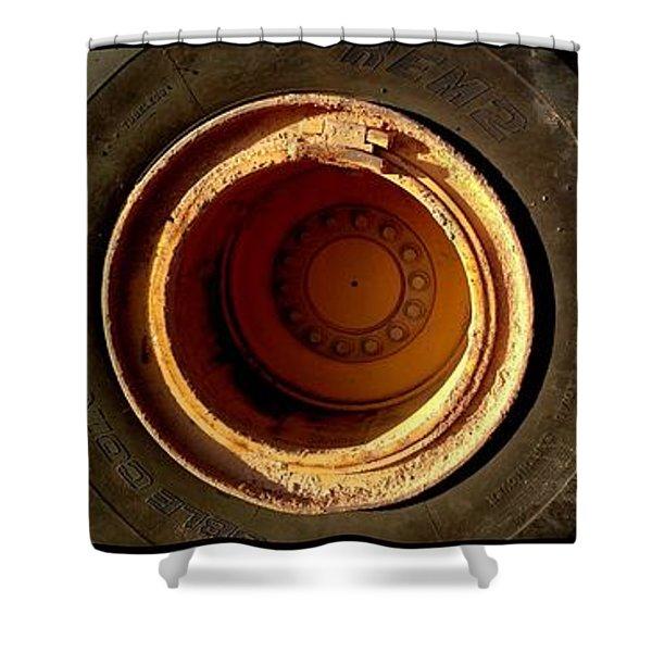 round and round Shower Curtain by Marlene Burns