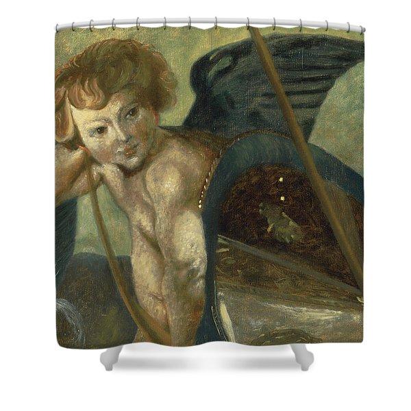 Ruben's Angel Shower Curtain by Shelley Irish